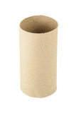 Tissue core made from recycled cardboard. Stock Photos