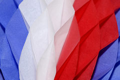 Tissue decoration. Abstract of a 4th of July decoration Royalty Free Stock Image