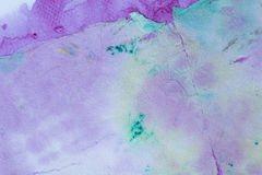Tissue painted watercolor for background, Stained and Dirt watercolor Stock Images