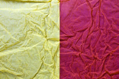 Pink and yellow tissue  Royalty Free Stock Photo