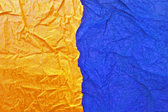yellow and blue paper Stock Photography