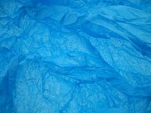 Tissue paper. Blue tissue paper Royalty Free Stock Photography
