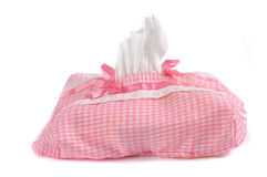 Tissue paper box with cloth gloves Stock Image
