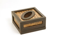 Tissue paper box made by bamboo wicker Stock Photo