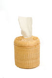 Tissue paper box made by  bamboo wicker Stock Photography