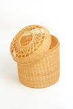 Tissue paper box made by  bamboo wicker Royalty Free Stock Photo