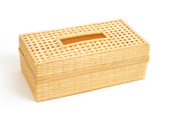 Tissue paper box made by  bamboo wicker Royalty Free Stock Photos