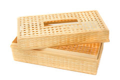 Tissue paper box made by  bamboo wicker Stock Photos