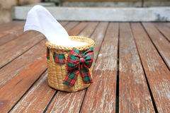 Tissue paper box made by basketry bamboo Stock Photo