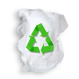 Tissue Paper and recycle symbol. Stock Photo