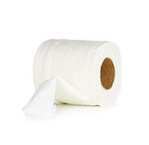 Tissue paper roll on white background. Royalty Free Stock Images