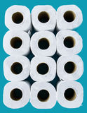 Tissue paper rolls Stock Images