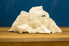 Tissue. Stack of Used Tissue stock image