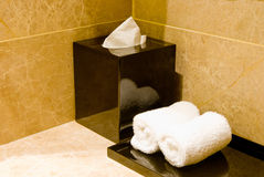 Tissue and towel Royalty Free Stock Photography