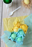 Tissue Wrapped Easter Eggs Stock Image