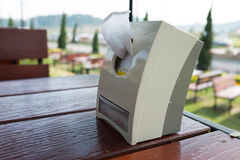 Tissues with box. At some restaurant Stock Photos