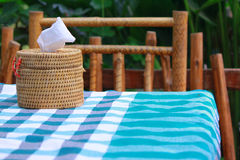 Tissues on table. For support everyone dinner time Stock Images