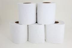 Tissues on the white background. Five tissues on the white background Stock Images