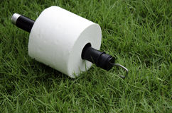 Tissues. White tissue paper on the lawn Royalty Free Stock Photography