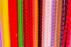 Tissus colorés Photo stock