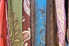 tissus colorés Photos stock