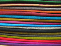 Tissus colorés 1 Image libre de droits