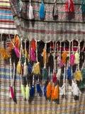 Tissus de coton avec des franges Images stock