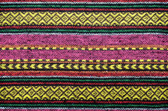 Tissus de coton tissés faits main Photos libres de droits