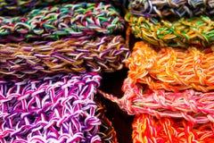 Tissus de laines, couleurs Images libres de droits