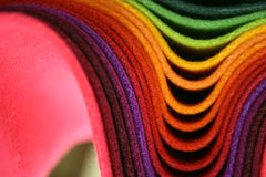 Tissus multicolores Images stock