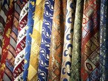 Tissus sur le marché turc Images libres de droits