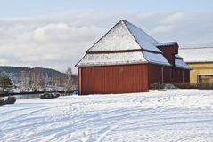 Tista river in winter. A winter day along the Tista river in Halden Royalty Free Stock Photo