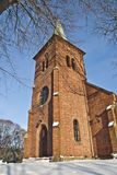 Tistedal church. Is a long church from 1865 in Halden, Østfold county Royalty Free Stock Photography
