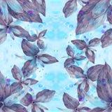 Tistel - knoppar och blommor Abstrakt tapet med blom- motiv seamless modell wallpaper Arkivbilder
