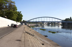 Tisza flod Royaltyfri Fotografi