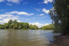 Tisza River at Szeged Stock Photos