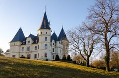 The Andrassy Castle in Tiszadob, Hungary. Royalty Free Stock Image