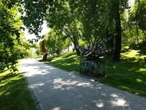Titán de Parcul en BucureÈ™ti Foto de archivo