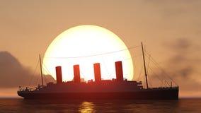 Titánico y puesta del sol Fotos de archivo