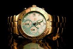 Titânio do relógio de pulso dos homens Fotografia de Stock