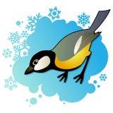 Tit en fondo del invierno Imágenes de archivo libres de regalías