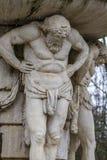 Titaan. Sierfonteinen van het Paleis van Aranjuez, Madrid, S royalty-vrije stock foto