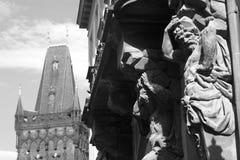 Titaan van Praag Stock Afbeeldingen