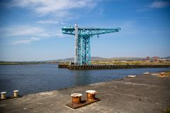 The Titan Crane at the site of John Brown`s yard in Clydebank. The massive Titan crane at the site of John Brown`s shipyard in Clydebank, Scotland. Built in 1907 Royalty Free Stock Image
