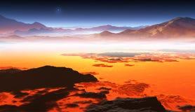 Titan, la plus grande lune de Saturn illustration stock