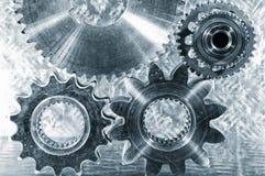 Titan- och stålteknikdelar Royaltyfri Foto