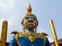 Titan. Is a sign of giant who make a safety of the Buddhist religion. We can see it in an important temple Stock Photography