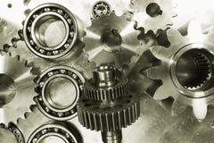 Titan- und Stahlgänge und Kugellager Lizenzfreie Stockfotos
