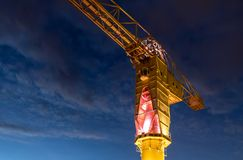 Titan yellow crane on Island of Nantes stock photo