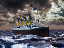 Titanic royalty free illustration